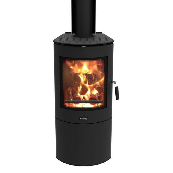 Masport Akaroa Freestanding Radiant Wood Burner Zink